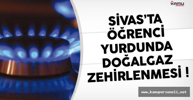 Sivas'ta Öğrenci Yurdunda Doğalgaz Zehirlenmesi Çok Sayıda Öğrenci Hastanede