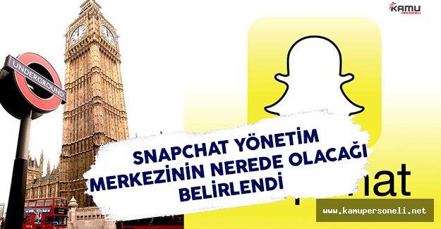 Snapchat Yönetim Merkezinin Nerede Olacağını Belirledi