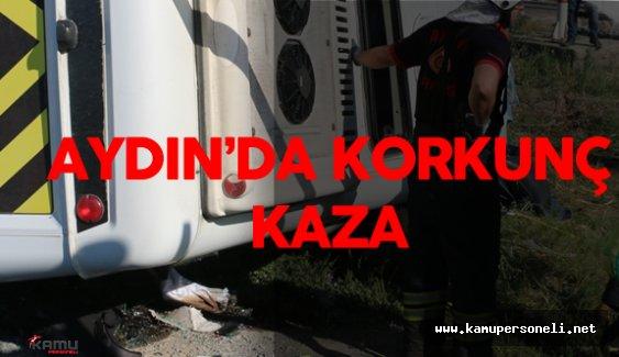 Aydın'da Öğrenci servisiyle otomobil çarpıştı: 1 ölü, 14 yaralı