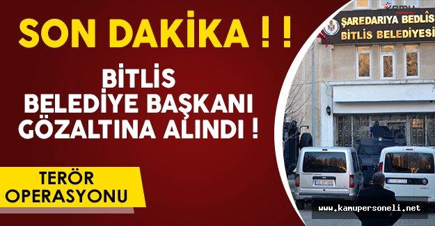 Son Dakika: Bitlis Belediye Başkanı Gözaltına Alındı!