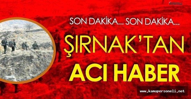 SON DAKİKA! Şırnak'ta Çatışma Çıktı ! Acı Haber Geldi