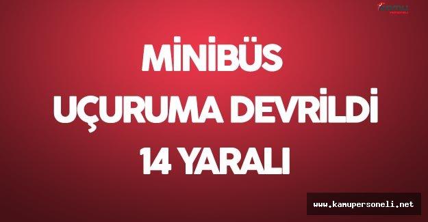 Son Dakika: Sivas'ta Korkunç Kaza Minibüs Uçuruma Devrildi