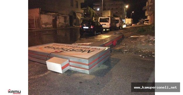 Tarsus'ta Şiddetli Fırtına ve Yağış Sonrası Büyük Hasar Meydana Geldi