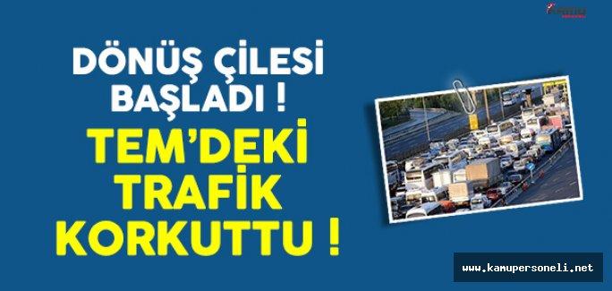Tatilciler İstanbul'a Dönüyor Trafik Durumu Yoğunlaştı