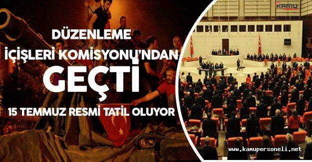 TBMM'de 15 Temmuz Demokrasi ve Özgürlükler Günü Kararı