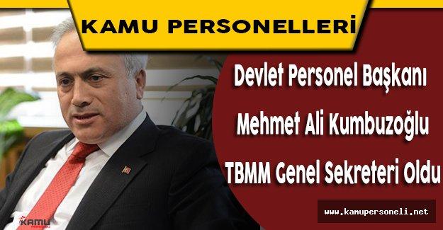 TBMM Genel Sekreterliğine Atanan Kumbuzoğlu Görevi Devraldı
