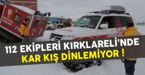 112 Ekipleri Kar Yağışına Direnmeyi Başardı