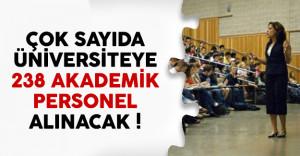 11 üniversiteye 268 akademik personel alımı yapılacak