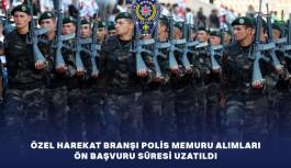 4 Bin Özel Harekat Polis Memuru Alımı İçin Ön  Başvuru Süresi Uzatıldı