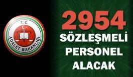 Adalet Bakanlığı 2954 Sözleşmeli Personel Alıyor