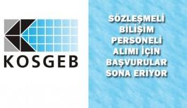 KOSGEB Sözleşmeli Bilişim Personeli Alımı için Başvurular Sona Eriyor