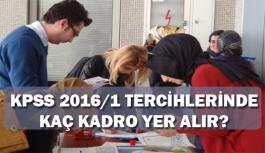 KPSS 2016-1 Tercihlerinde Kaç Kadro Yer Alır?