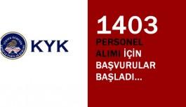 KYK 1403 Personel Alıyor Başvurular Başladı