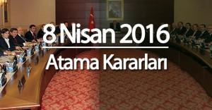 8 Nisan 2016 Atama Kararları