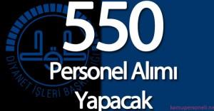 Diyanet İşleri Başkanlığı (DİB) 550 Sözleşmeli Personel Alımı