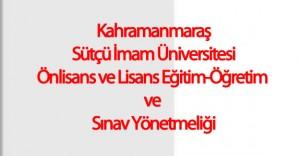 Kahramanmaraş Sütçü İmam Üniversitesi Önlisans ve Lisans Eğitim-Öğretim ve Sınav Yönetmeliği