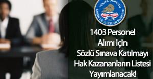 KYK 1403 Personel Alımı Sınav Sonuçları Açıklanıyor! ( Kimler Sözlü Sınava Katılacak)