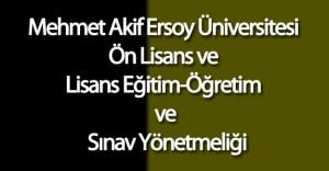 Mehmet Akif Ersoy Üniversitesi Ön Lisans ve Lisans Eğitim-Öğretim ve Sınav Yönetmeliği'nde Değişiklik