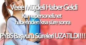 """Müjdeli Haber MEB'den Geldi """"PYBS başvuru süresi uzatıldı"""""""
