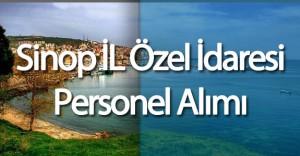 Sinop İl Özel İdaresi Personel Alım İlanı DPB'de Yayımlandı