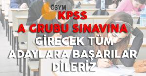2016 KPSS A Grubu Heyecanı Yaşayacak Tüm Adaylara Başarılar Dileriz