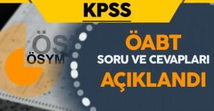 2016 KPSS (ÖABT) Soruları ve Cevapları ÖSYM Tarafından Açıklandı