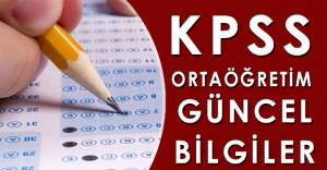 2016 KPSS Ortaöğretim Güncel Bilgiler (Sürekli Güncel)