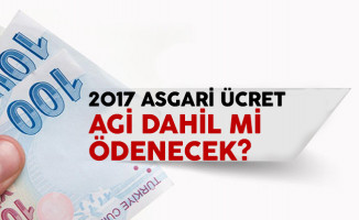 2017 AGİ dahil asgari ücret ne kadar? Asgari geçim indimi tablosu yayımlandı
