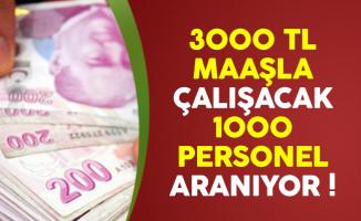 3 bin lira maaşla çalışacak 1000 personel aranıyor