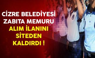 Cizre Belediyesi Personel Alım İlanını Sitesinden Kaldırdı !