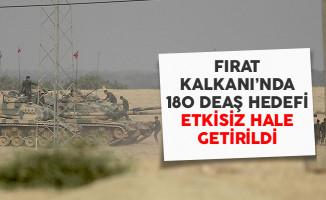 Fırat Kalkanı Harekatı'nın 155'inci Gününde 180 DEAŞ Hedefi Vuruldu