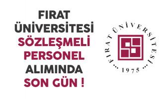 Fırat Üniversitesi Sözleşmeli Personel Alımında Son Gün !