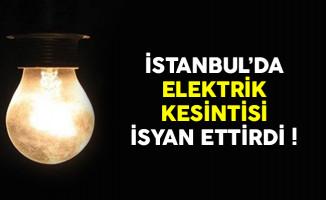 İstanbullular kabusu yaşadı ! İl genelinde elektrikler kesildi