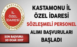 Kastamonu İl Özel İdaresi En Az Önlisans Mezunu Sözleşmeli Personel Alımı Başvuruları Başladı