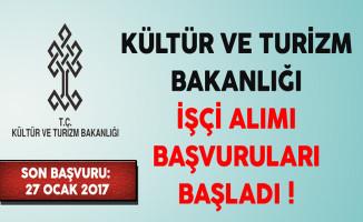 Kültür ve Turizm Bakanlığı KPSS Şartsız İşçi Alımı Başvuruları Başladı