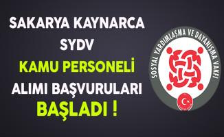 Sakarya Kaynarca SYDV Kamu Personeli Alımı Başvuruları Başladı