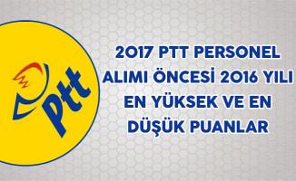 2017 PTT Personel Alımı Öncesi 2016 yılı En Yüksek ve En Düşük Puanlar