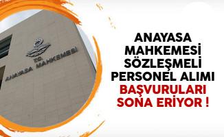 Anayasa Mahkemesi (AYM) sözleşmeli personel alımı başvuruları sona eriyor