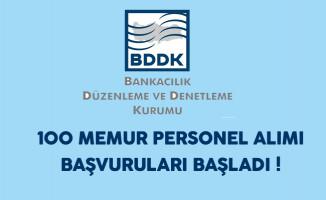 BDDK 100 Memur Personel Alımı Başvuruları Başladı