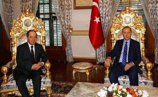 Cumhurbaşkanı Erdoğan IKBY Başkanı Barzani İle Görüştü