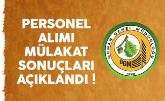 Orman Genel Müdürlüğü (OGM) personel alımı mülakat sonuçları açıklandı