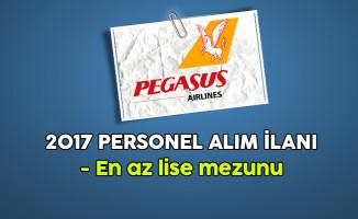 Pegasus  En Az Lise Mezunu Personel Alım İlanı 2017