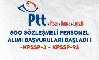 PTT 500 Sözleşmeli Personel Alımı Başvuruları Başladı