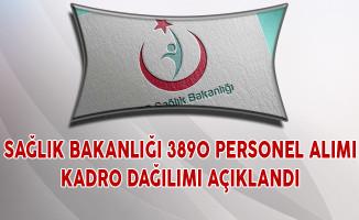 Sağlık Bakanlığı 3 Bin 890 Personel Alımı Kadro Dağılımı Açıklandı