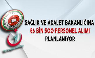 Sağlık ve Adalet Bakanlığına 56 Bin 500 Personel Alımı Planlanıyor