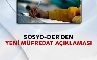 SOSYO-DER'den Yeni Müfredat Açıklaması