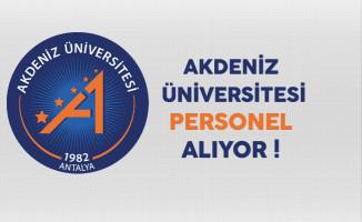 Akdeniz Üniversitesi Personel Alım ilanı 2017