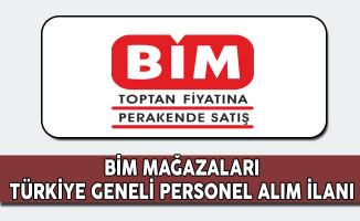 BİM Türkiye Geneli Personel Alım İlanı