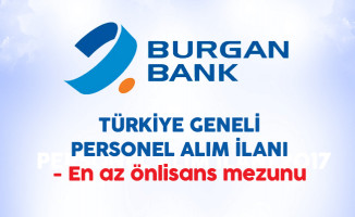 Burgan Bank Türkiye Geneli Personel Alım İlanı