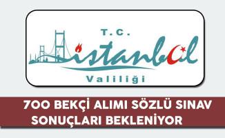 İstanbul Valiliği 700 Bekçi Alımı Sözlü Sınavları Sona Erdi, Sonuçlar Bekleniyor